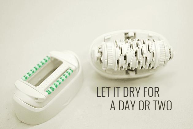 dry epilator tweezers and cap