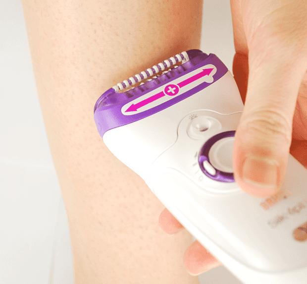 epilation duration on legs