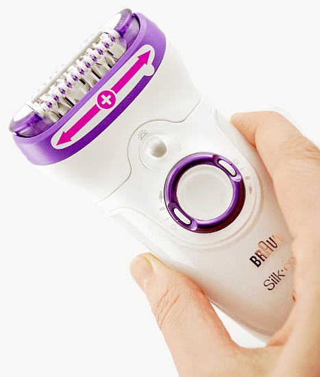 holding my new epilator