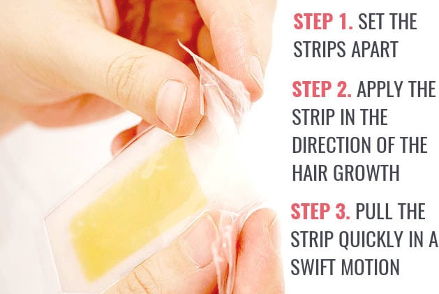 how to use facial wax strips to remove upper lip hair