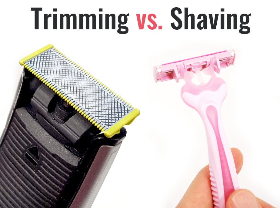 trimming compared to shaving