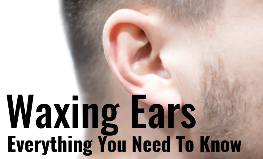 male ears waxing